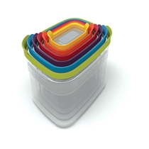 Picture of JOSEPH JOSEPH-Nest Storage Plastic Food Containers Set Set of Six with Covers (Multicolored)