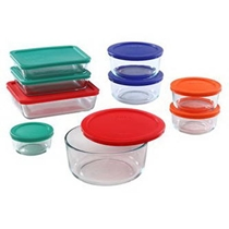 Picture of PYREX-18 - Piece Storage Plus With Colored Lids