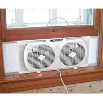 Picture of COMFORT ZONE-9 - Inch Portable Twin Window Fan White