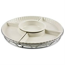 Picture of GODINGER-Ceramic Lazy Susan - (5 Pieces)