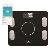 Picture of KALORIK-Bluetooth Black Electronic Body Fat Scale with Body Analysis