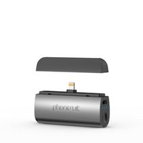 Picture of PHONESUIT-Flex XT Pocket Charger for iOS Lightning Devices - (Black Metallic)