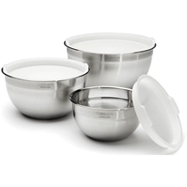 Picture of CUISINART-Stainless Steel Mixing Bowls Set of 3 with Lids