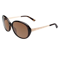 Picture of ANNE KLEIN-Womens Oval Fashion Sunglasses - (Tortoise)