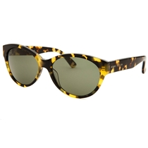 Picture of ANNE KLEIN-Womens Round Yellow Sunglasses - (Tortoise)