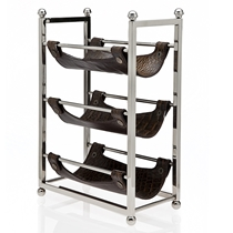 Picture of GODINGER-3 Bottle - Wine Rack with Leather - (Brown)