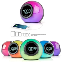 Picture of IHOME-Bluetooth Color Changing Dual Alarm Clock with FM and USB Charging Port