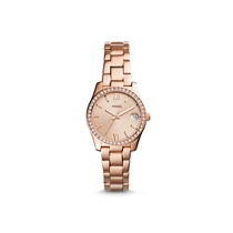 Picture of FOSSIL-Womens Scarlette Three-Hand Stainless Steel Bracelet Watch - (Rose Gold-Tone)