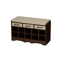 Picture of HOUSEHOLD ESSENTIALS-Entryway Storage Bench With Shoe Cubby