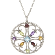 Picture of JILCO-Gemstone Medallion Necklace