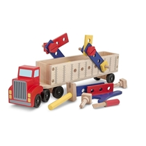 Picture of MELISSA & DOUG-Big Rig Building Truck Wooden Play Set