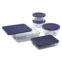 Picture of PYREX-Simply Store Blue Lids Set - (10 Piece)