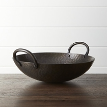 Picture of CRATE&BARREL-Feast Hammered Iron Serving Bowl