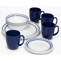 Picture of CORELLE-Livingware Classic Cafe Blue Dinnerware Set - (16 Piece)