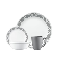 Picture of CORELLE-Livingware™ Modens Dinnerware Set - (16 Piece)