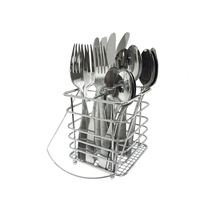 Picture of CAMBRIDGE SILVERSMITHS-16 - Piece Madison Satin Flatware Wet with Square Caddy - (Service for 4)