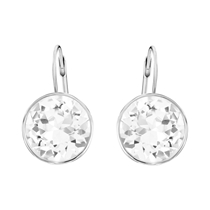 Picture of SWAROVSKI-Bella Pierced Earrings White Rhodium Plating