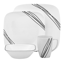 Picture of CORELLE-Square™ Simple Sketch Dinnerware Set - (16 Piece)