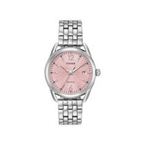 Picture of CITIZEN-Ladies LTR Eco-Drive Stainless Steel Case and Bracelet Watch - (Light Pink Dial)