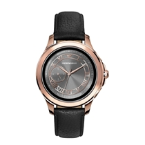 Picture of EMPORIO ARMANI-46mm Mens Stainless Steel Touchscreen Smartwatch - (Black Strap)