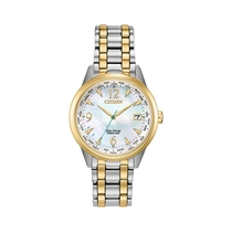 Picture of CITIZEN-Ladies World Time Eco-Drive Two Tone Watch - (MOP Dial)