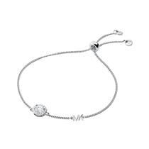 Picture of MICHAEL KORS-14k - Rose Gold Halo Slider Bracelet - (Silver)