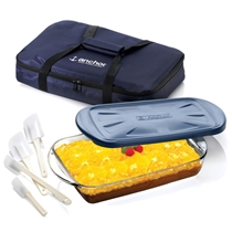 Picture of ANCHOR HOCKING-3 Pc Sculpted Ovenware Set with Tote Bag