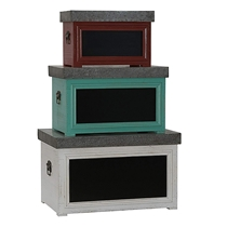 Picture of HOUSEHOLD ESSENTIALS-Chalkboard Storage