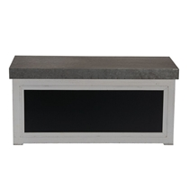 Picture of HOUSEHOLD ESSENTIALS-Chalkboard Coffee Table - (White)
