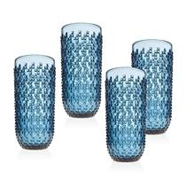 Picture of GODINGER-12 - Ounce Alba Highball Glasses - (Set Of 4) - (Blue)