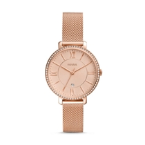Picture of FOSSIL-Womens Jacqueline Three-Hand Date Rose Gold-Tone Stainless Steel Watch