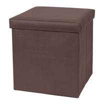 Picture of CREATIVEWARE-Fold And Storage Ottoman - (Brown)