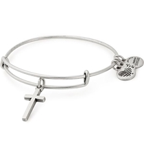 Picture of ALEX AND ANI-Cross Bangle - (Rafaelian Silver Finish)