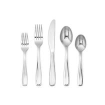 Picture of CAMBRIDGE SILVERSMITHS-Waylen Mirror Flatware with Rustic Buffet - (40 Piece)