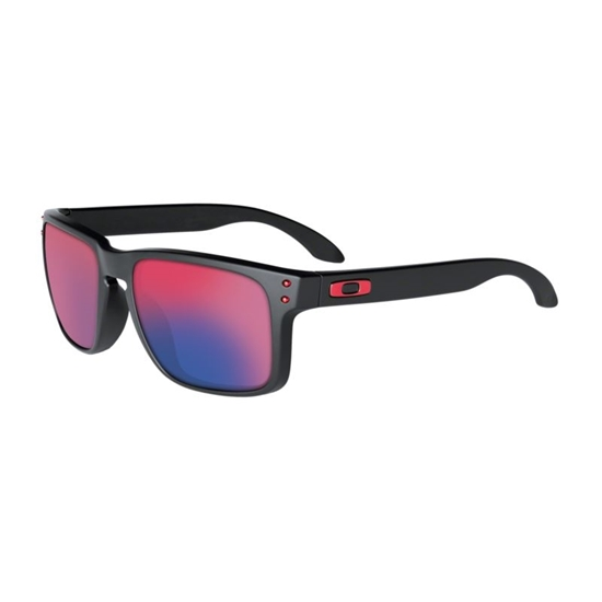 OAKLEY-Holbrook Sunglasses - (Matte Black /Positive Red ...