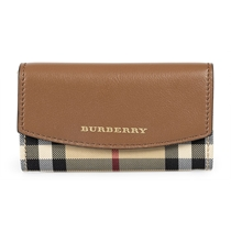 Picture of BURBERRY-Vintage Horseferry Check Cheshman Card Case - (Brown)