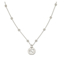 Picture of GUCCI-Interlocking GG Pendant Floral Necklace - (Silver)