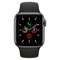 Picture of APPLE-40mm - Series 5 GPS and Cellular Smart Watch - (Space Gray Case) - (Black Band)