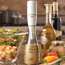 Picture of BONJOUR-Chefs Tools Plastic Salad Dressing Carafe and Handheld Mixer - (12 Oz)