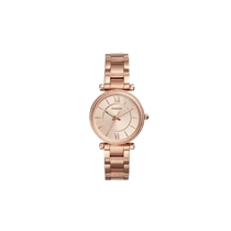 Picture of FOSSIL-Carlie Three-Hand Stainless Steel Watch - (Rose Gold)