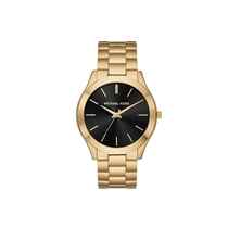 Picture of MICHAEL KORS-Unisex Slim Runway Black-Tone Stainless Steel Watch