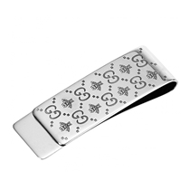 Picture of GUCCI-Money Clip Interlocking GG Detail and Bee Motif - (Sterling Silver)