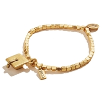 Picture of ALEX AND ANI-2020 Graduation Cap Stretch Bracelet - (Rafaelian Gold)