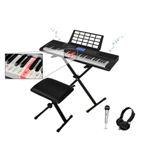 Picture of TECHNICAL PRO-61 - Keys Electric Piano Learning Keyboard Set with Seat Stand and Mic