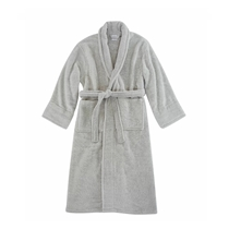 Picture of ESPALMA-Opulence Luxurious Cotton Shawl Collar Robe for Her - (Silver)