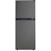 Picture of DANBY-4.7 Cu. Ft. Dual-Door Compact Refrigerator/Freezer in Black Stainless Steel