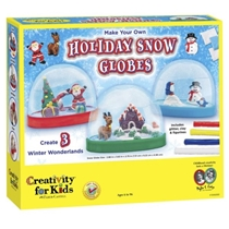 Picture of CREATIVITY FOR KIDS-Make Your Own Holiday Snow Globes