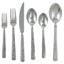Picture of GINKGO CUTLERY-42pc 18/0 Stainless Flatware Set-Mercury