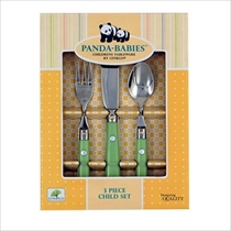Picture of GINKO CUTLERY-3Pc Child & Baby Flatware Set-Spring Green