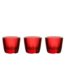 Picture of KOSTA BODA-Bruk Anything Bowl deep red set of 3